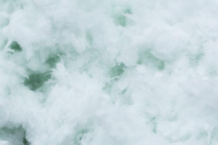 spouwmuurisolatie glaswolvlokken superglass superwhite cwi